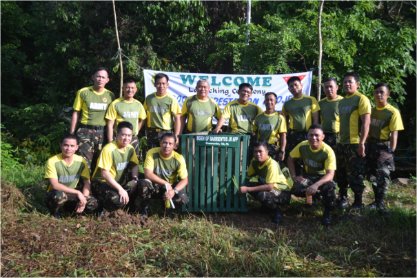 Officers and Personnel Office of the Assistant Chief of Staff for Operations, G3, 1ID, PA happily takes a souvenir photo during the launching  of the  Bamboo Reforestation Project ICOW 79th AFP Anniversary to the participants at the vicinity of Jungle Base , Hqs, 1ID, PA
