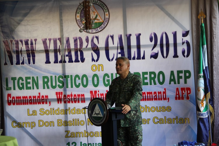 Lieutenant General Guerrero encouraging key personnel and line units to put more efforts in achieving internal security and confronting all challenges.