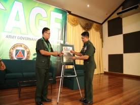 CSAFP hands over the AGP Compliant marker to Commander, 3ID