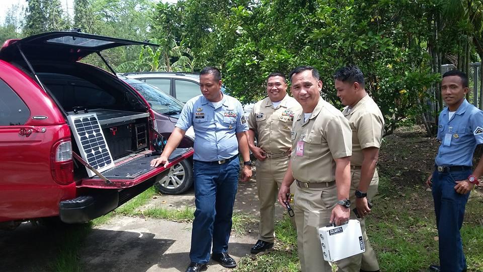 SolarRev Generator testing by PH Navy Officers