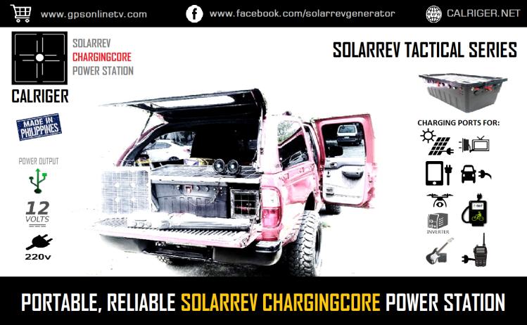 Portable SolarRev ChargingCore Portbale Power Station Pic white PNG