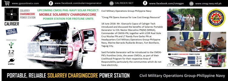 SolarRev CMOG Philippine Navy ChargingCore Power Station